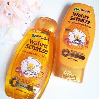 cặp gội xả Garnier hương hoa dành cho tóc khô