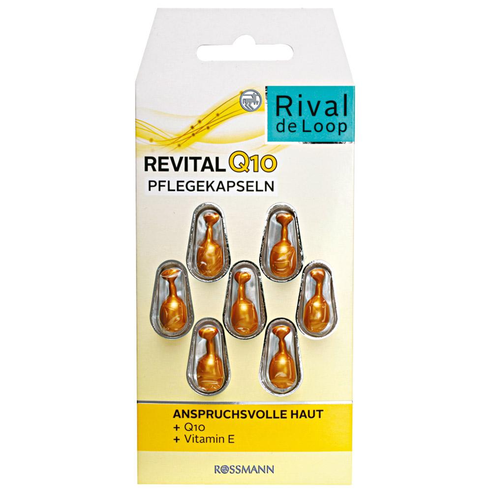 Viên nang dưỡng da giảm nếp nhăn , chống lão hóa Rival de loop Revital Q10