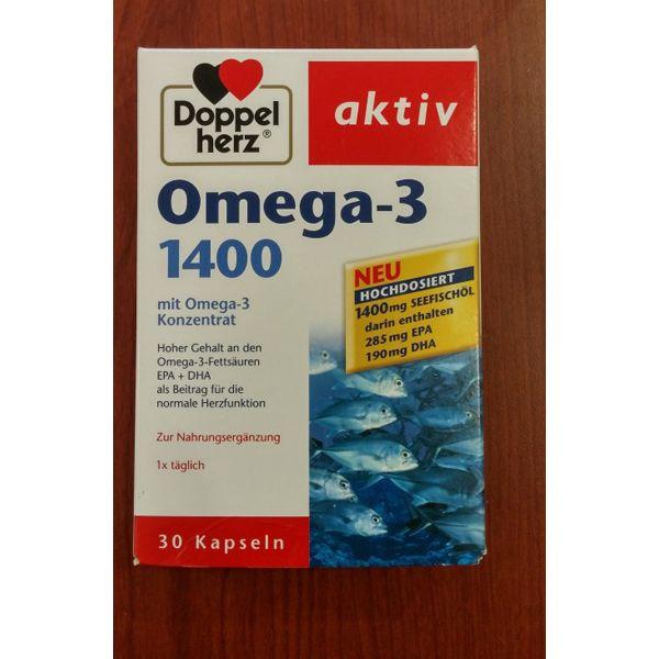 Thực phẩm chức năng Omega -3 từ cá hồi và dầu cá hàm lượng 1400