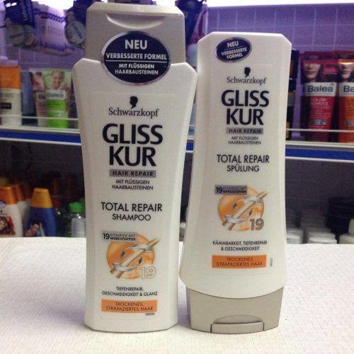 Cặp gội xả Gliss Kur cho tóc hư tổn