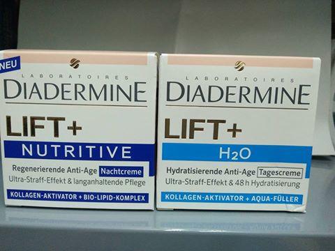 Cặp kem dưỡng chống nhăn và lão hoá , cấp nước Diadermine Lift +