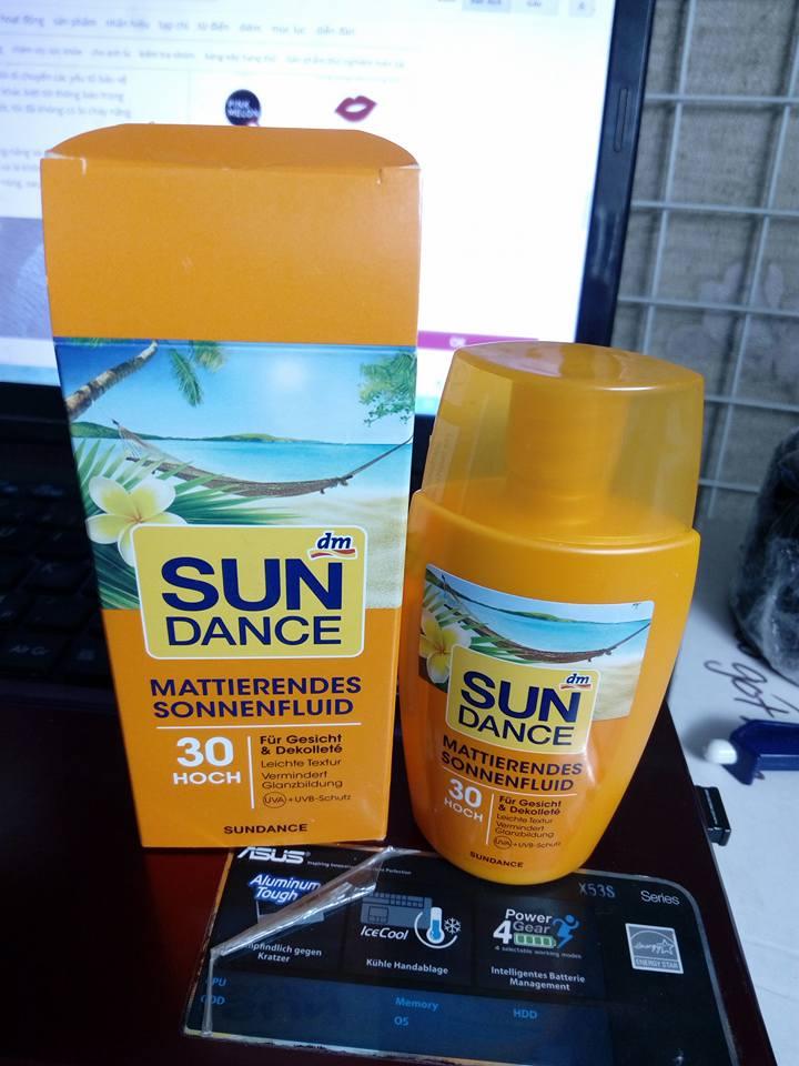 Kem chống nắng Sundance spf 30 dạng sữa lỏng dành cho mặt , cổ và ngực