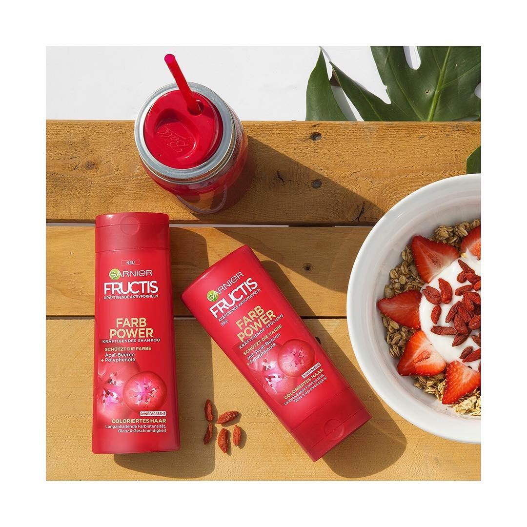 cặp gội xả garnier fructis đỏ giữ màu tóc nhuộm