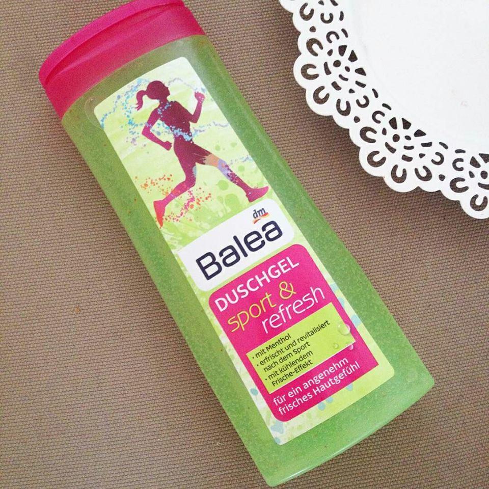 Gel tắm balea dành cho người chơi thể thao