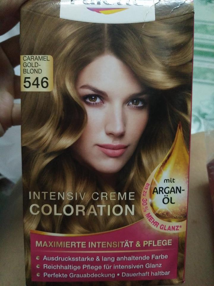 Thuốc nhuộm tóc poly palette mã 546 vàng caramel