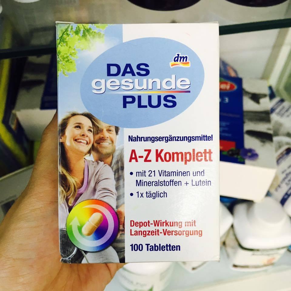 Thục phẩm chức năng bổ sung Vitamin tổng hợp A-Z