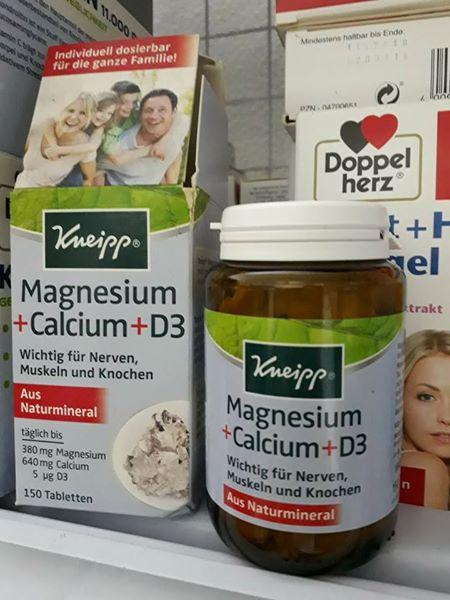 thục phẩm chức năng bổ sung magie - canxi và D3 cho cả gia đình