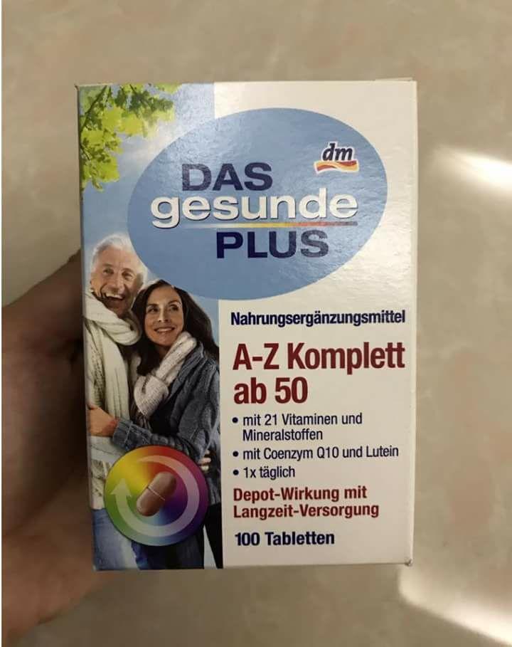 Vitamin Tổng Hợp Das Gesunde Plus A-Z Depot ab50 dành cho người trên 50 tuổi
