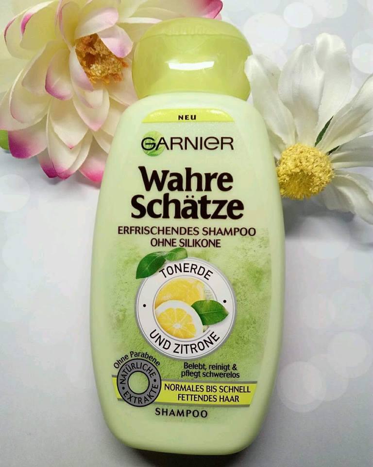 Dầu gội Garnier Wahre Schatze dành cho tóc nhờn