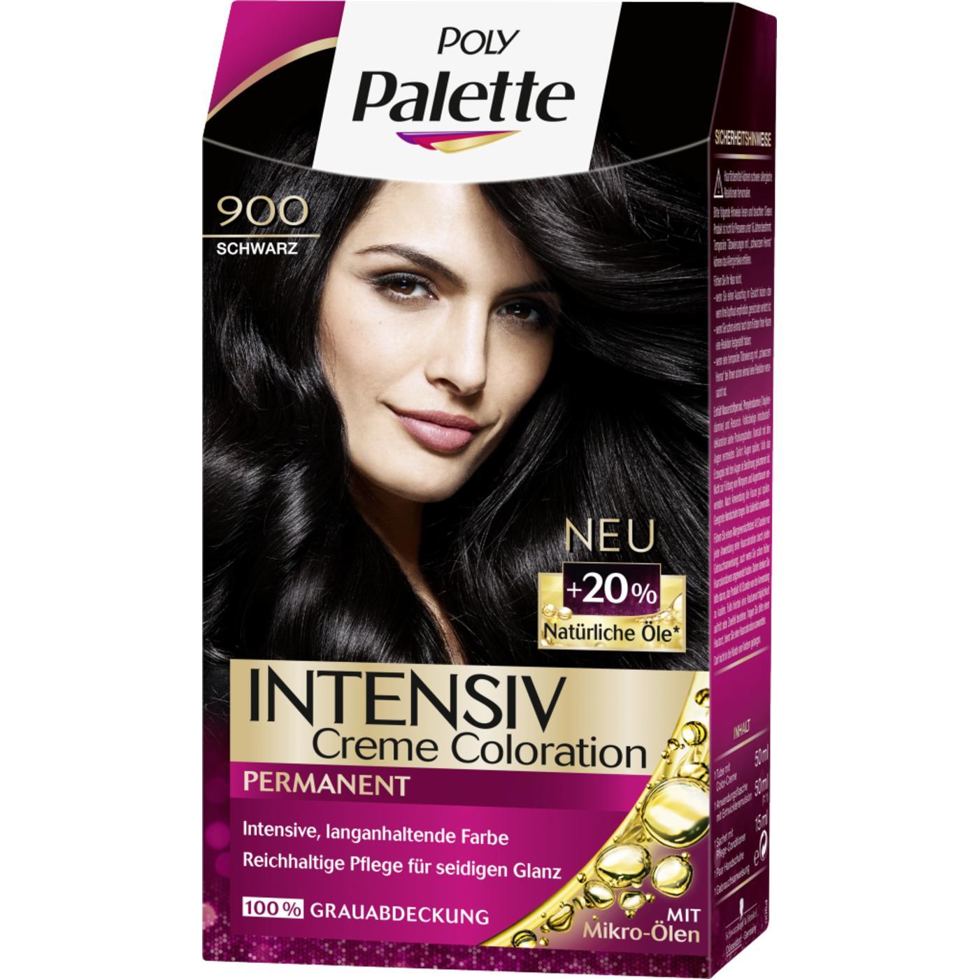 Thuốc nhuộm tóc phủ bạc Poly Palette màu đen