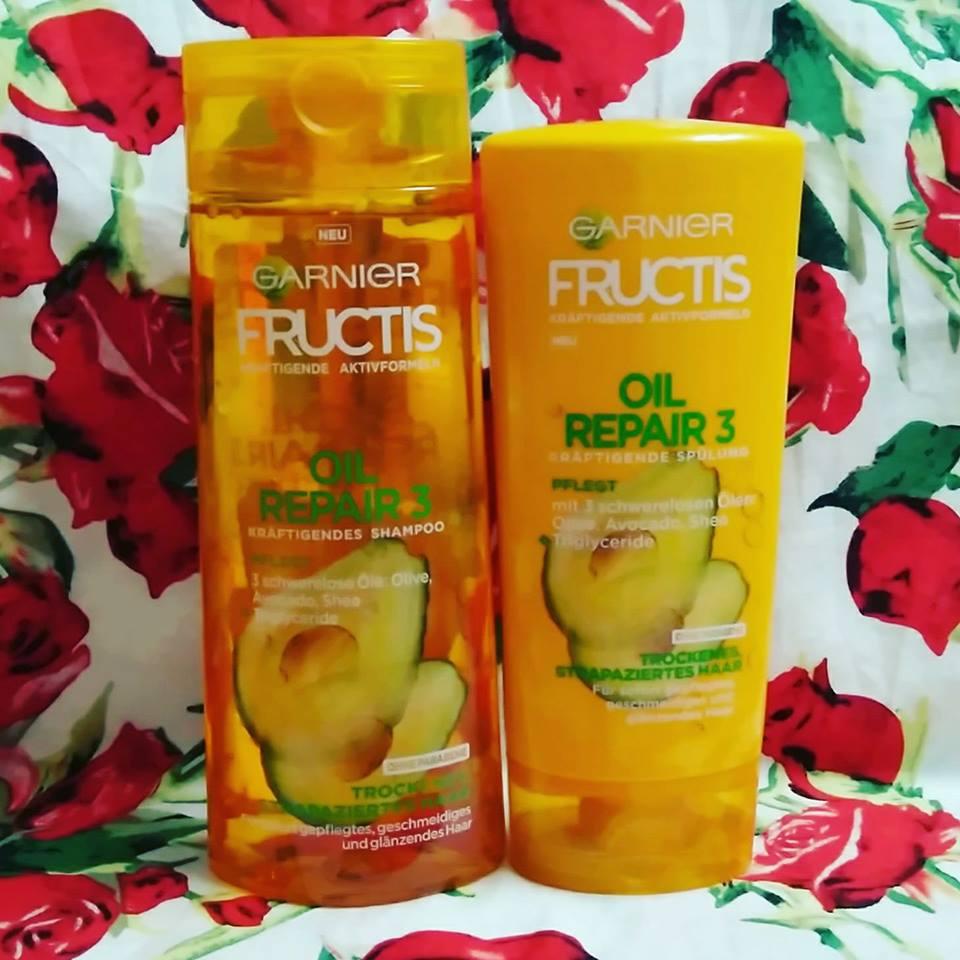 Cặp gội xả bơ Garnier fructis cho tóc khô + hư tổn