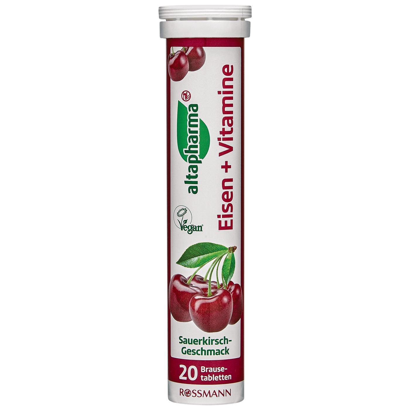 Viên sủi bổ sung sắt và vitamin E hương anh đào