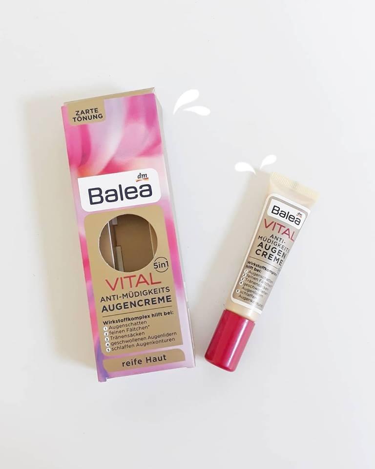 Kem dưỡng mắt giảm nếp nhăn Balea Vital cho tuổi trên 40