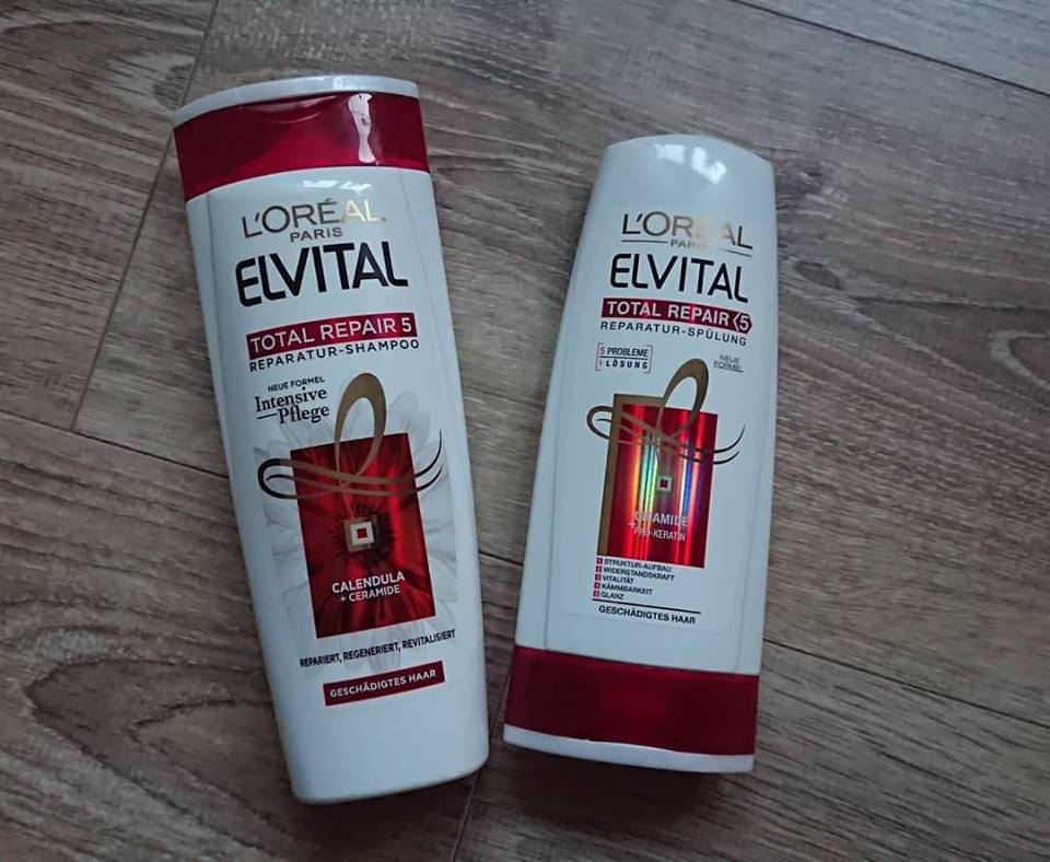 Cặp gội xả Loreal phục hồi tóc hư tổn