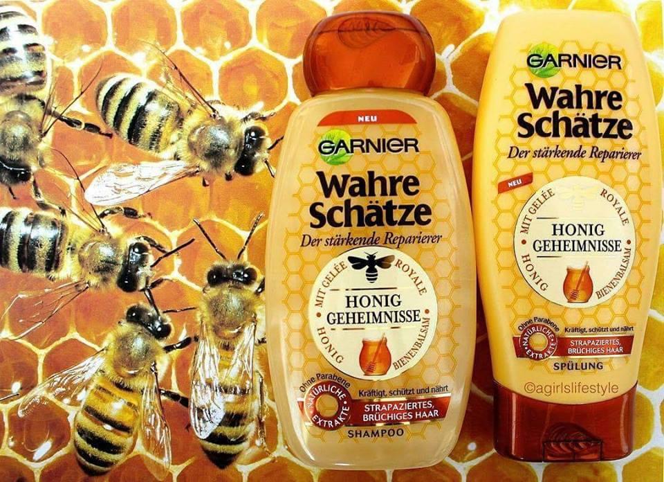 Cặp gội xả Garnier Wahre mật ong cho tóc khô