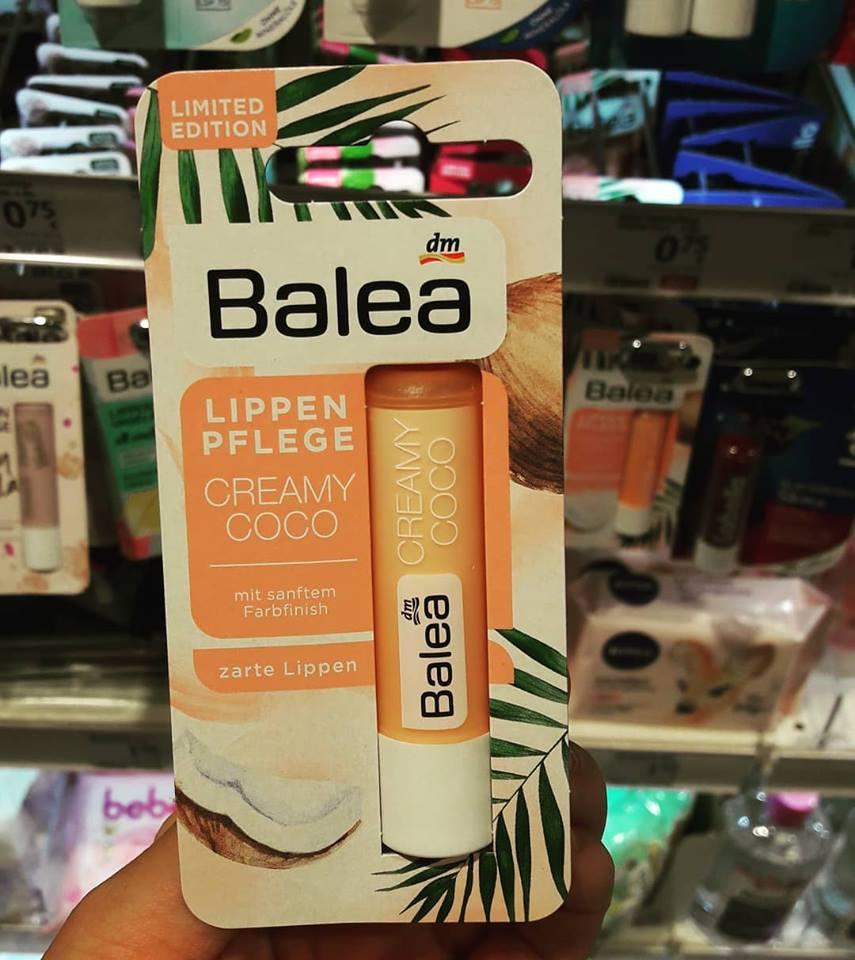 Son dưỡng môi ko màu Balea hương dừa