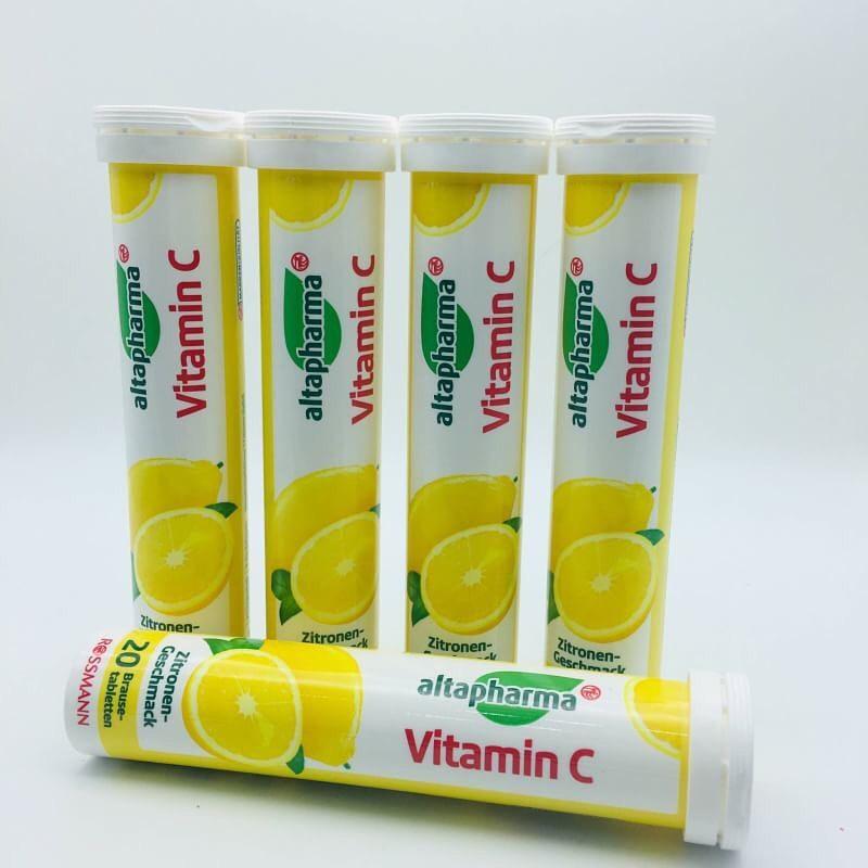 Viên sủi altapharma bổ sung vitamin C hương chanh