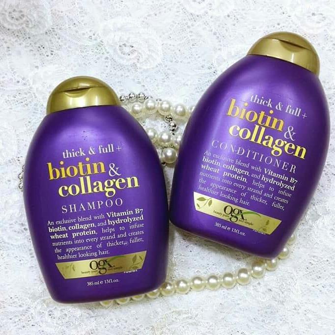 Cặp gội xả OGX biotin & collagen chống rụng tóc -Hàng xách tay Đức