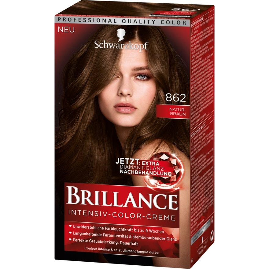 Thuốc nhuộm tóc Brillance Số 862 - màu nâu tự nhiên - phủ bạc