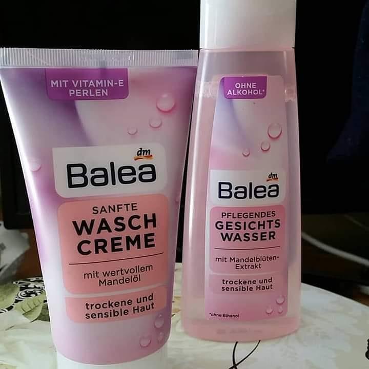Combo 1 sữa rửa mặt + 1 nước hoa hồng Balea dành cho da khô và da nhạy cảm