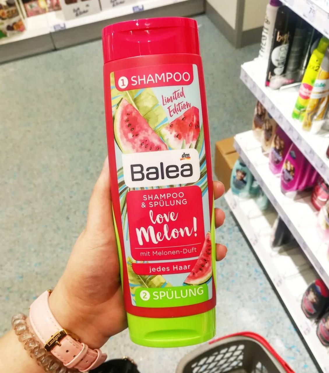 Dầu gội & dầu xả Balea 2in1 Love Melon!