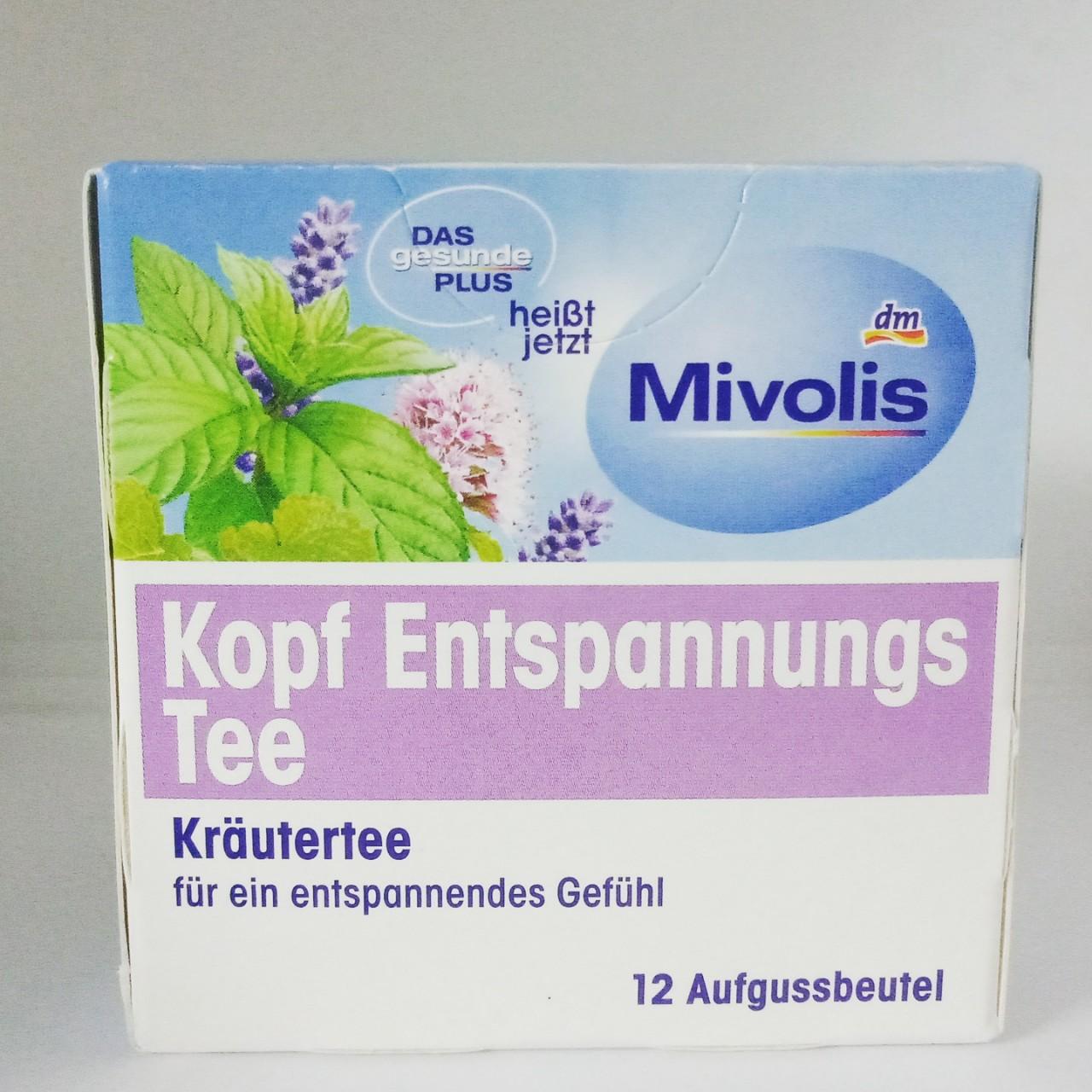 Trà thảo dược giảm đau đầu Mivolis