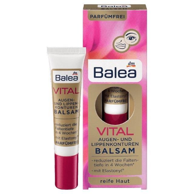 Kem dưỡng giảm nếp nhăn mắt và viền môi Balea Vital