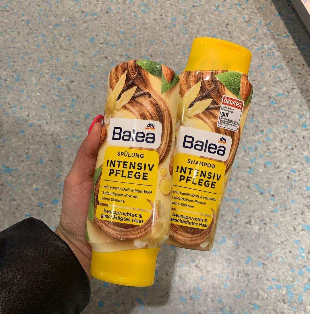 Cặp gội xả Balea hương vani cho tóc khô và hư tổn