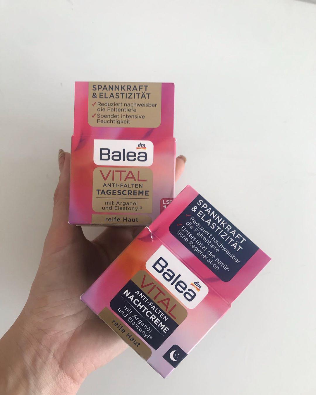 Kem dưỡng giảm nếp nhăn Balea Vital cho tuổi trên 40