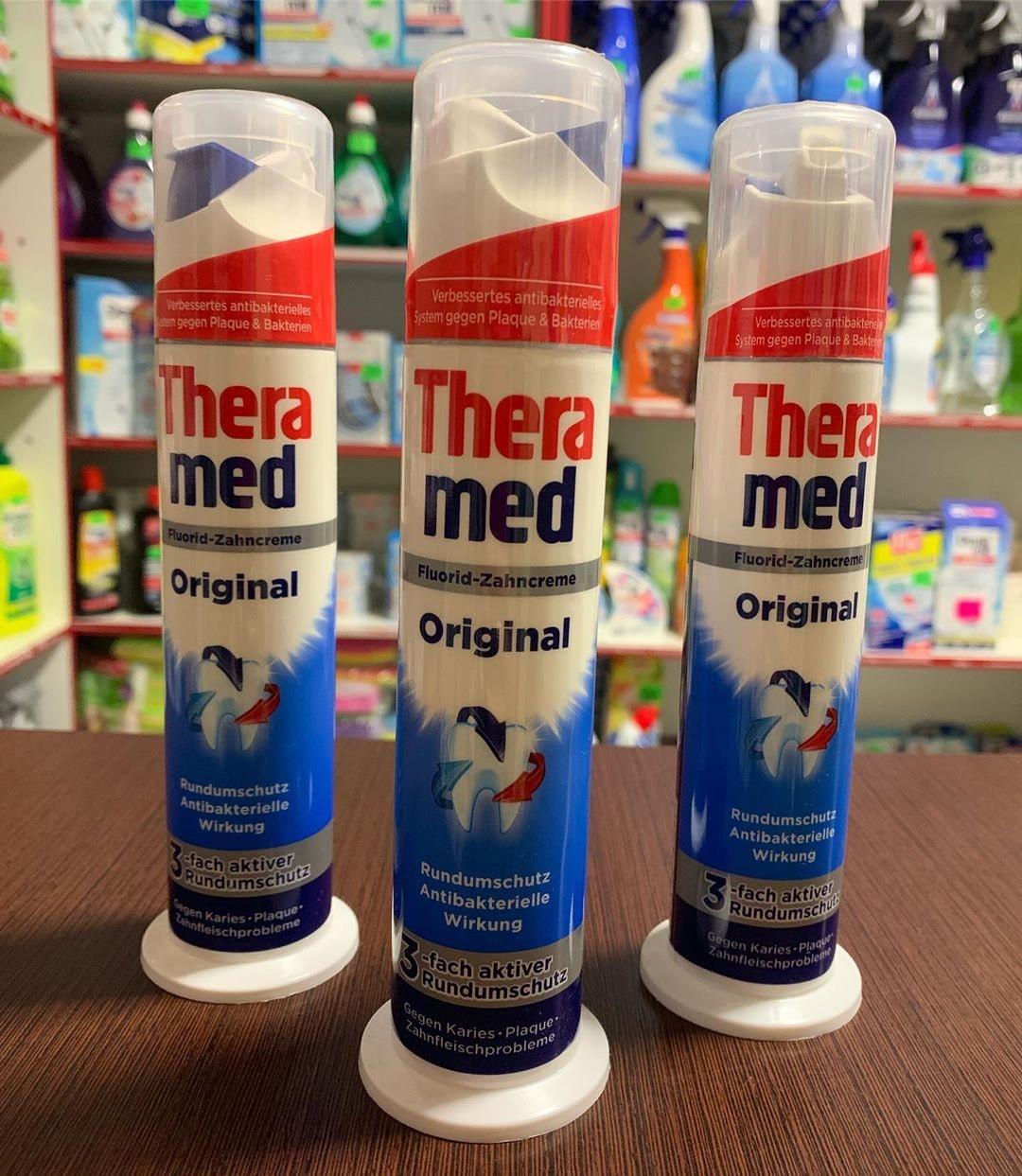 kem đánh răng ống theramed kháng khuẩn