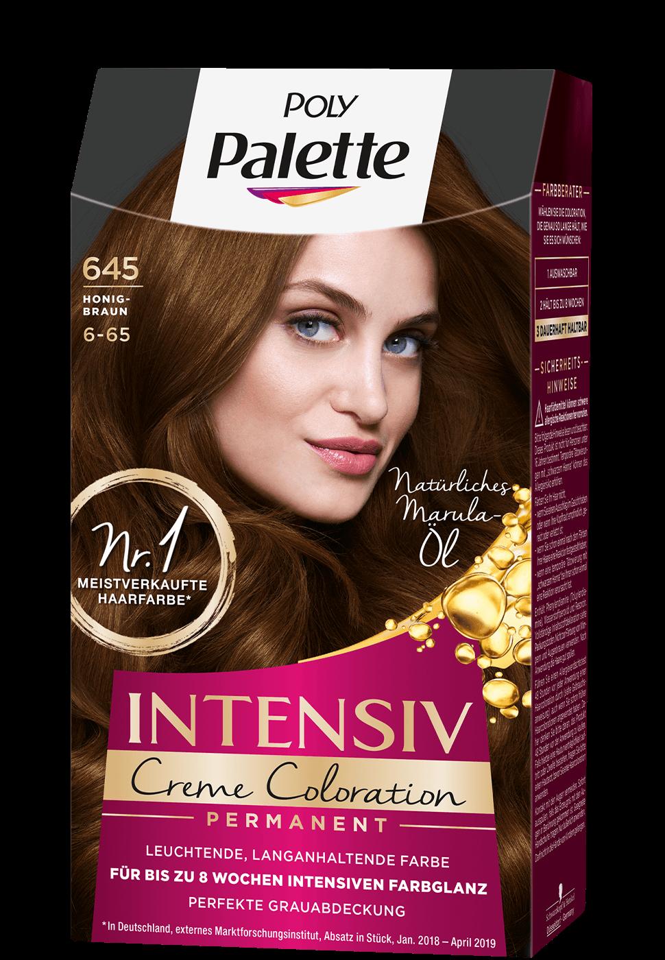 Thuốc nhuộm tóc Poly Palette mã 645 nâu mật ong