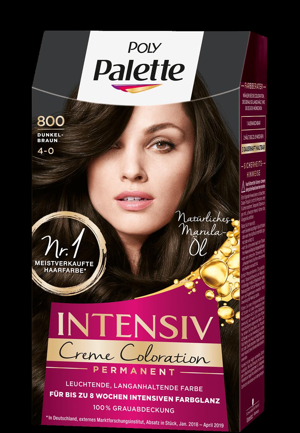 Thuốc nhuộm tóc poly palette nâu đen mã 800