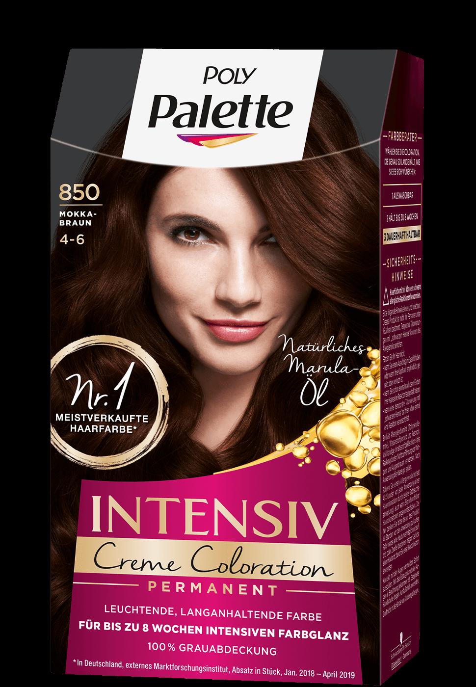 Thuốc nhuộm tóc Poly Palette mã 850: nâu tự nhiên