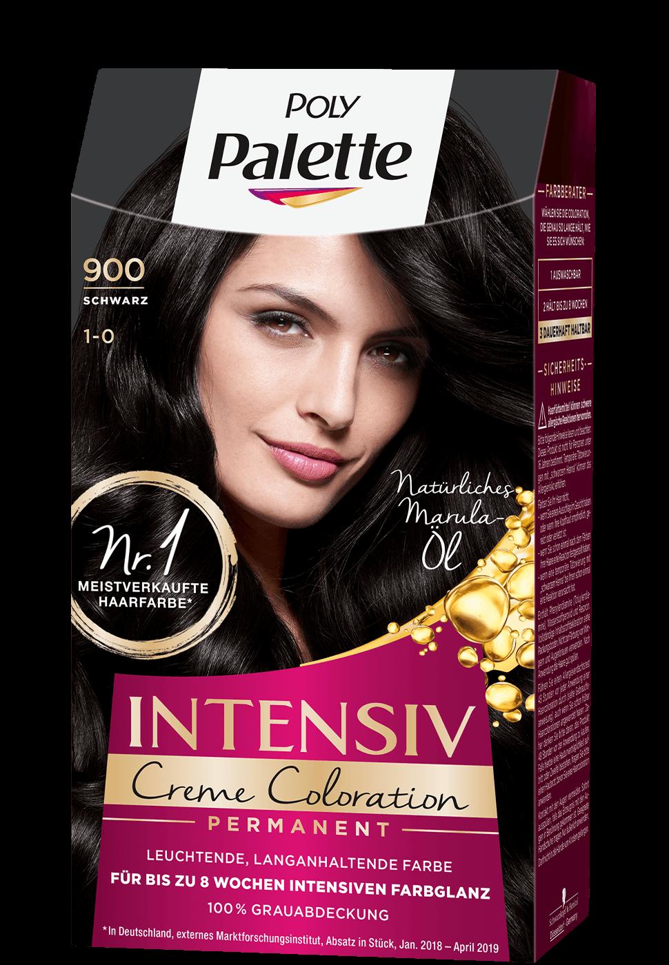 Thuốc nhuộm tóc phủ bạc Poly Palette mã 900 màu đen