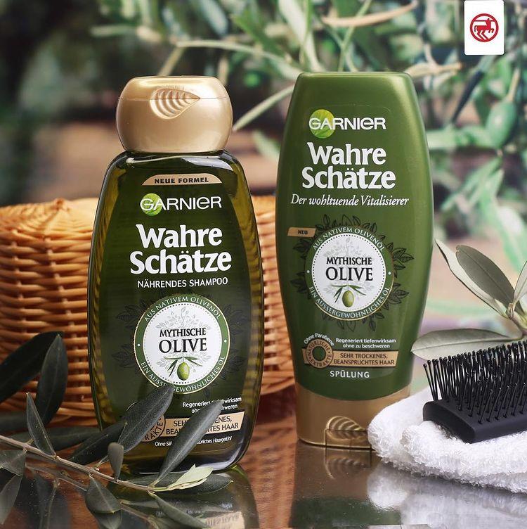 gội xả garnier hương oliu cho tóc rất khô và hư tổn